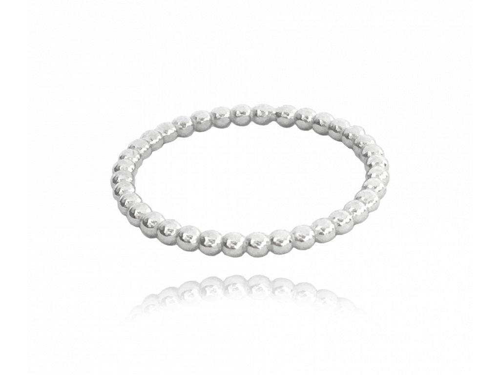 Kuličkový stříbrný prsten MINET vel. 48