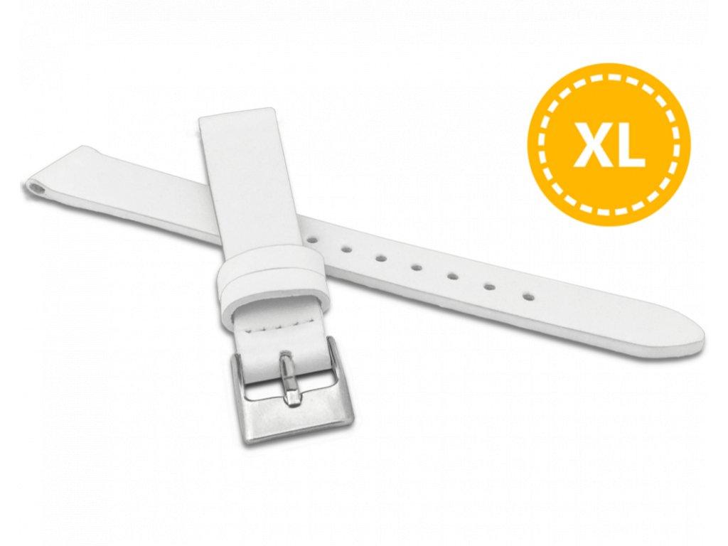 XL Prodloužený bílý řemínek MINET z luxusní kůže Top Grain - 14 - XL