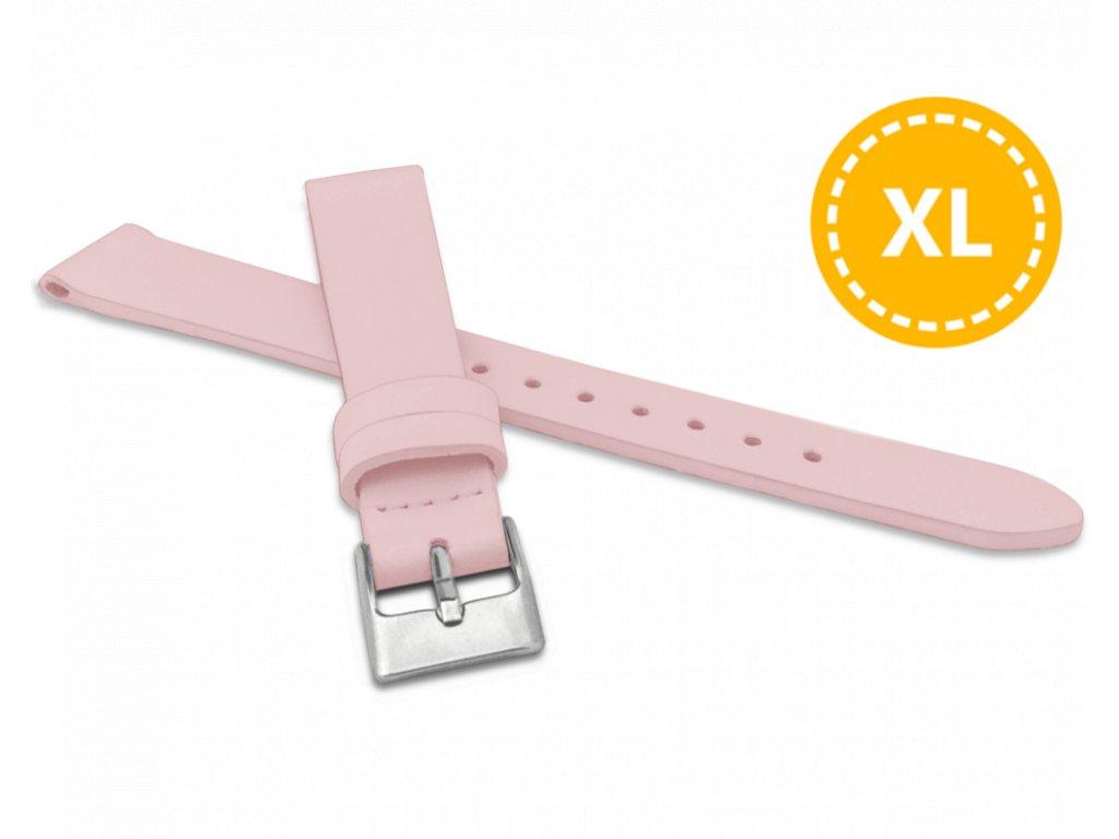 XL Prodloužený růžový řemínek MINET z luxusní kůže Top Grain - 14 - XL