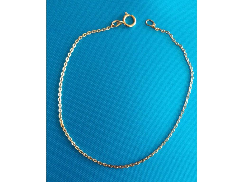 Zlatý náramek AU 585/1000 0,65 g