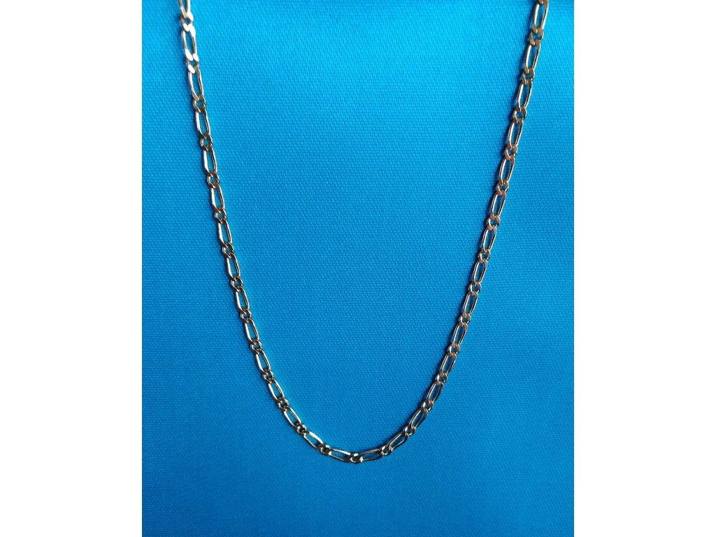 Zlatý řetízek AU 585/1000 4,34 g