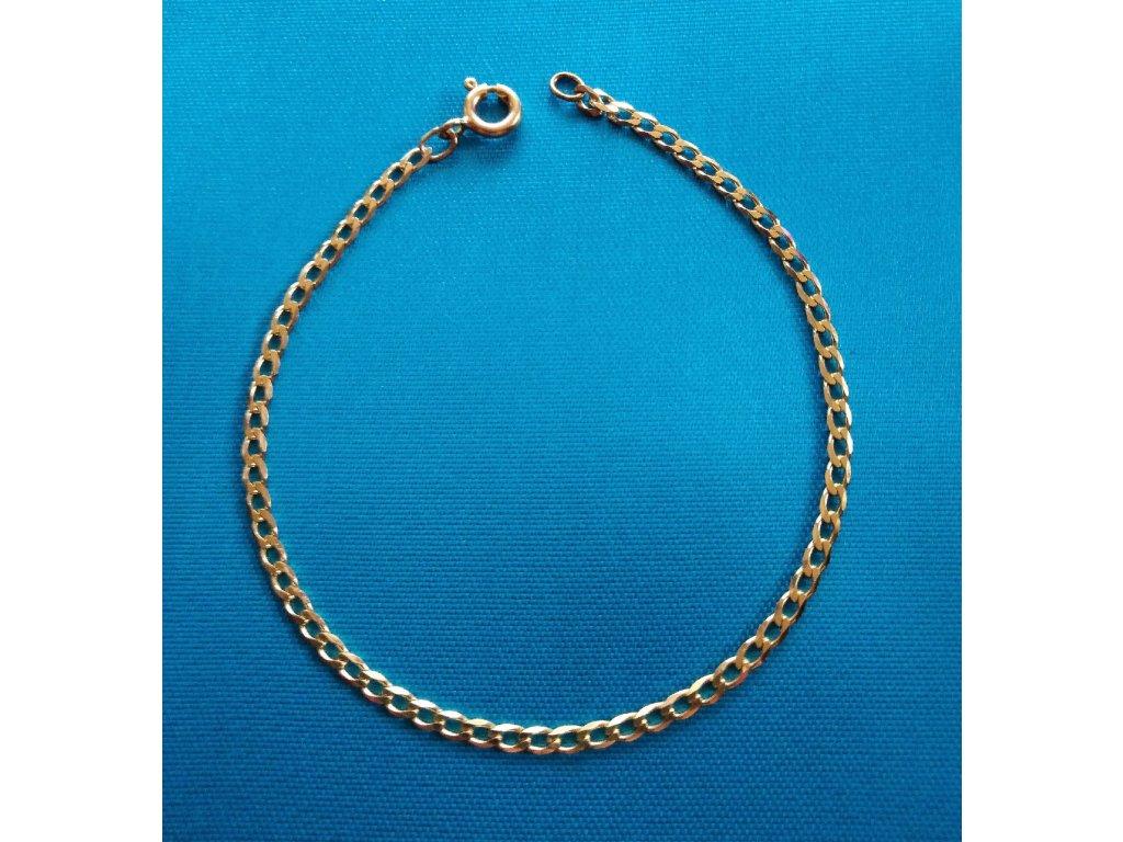 Zlatý náramek AU 585/1000 1,90 g