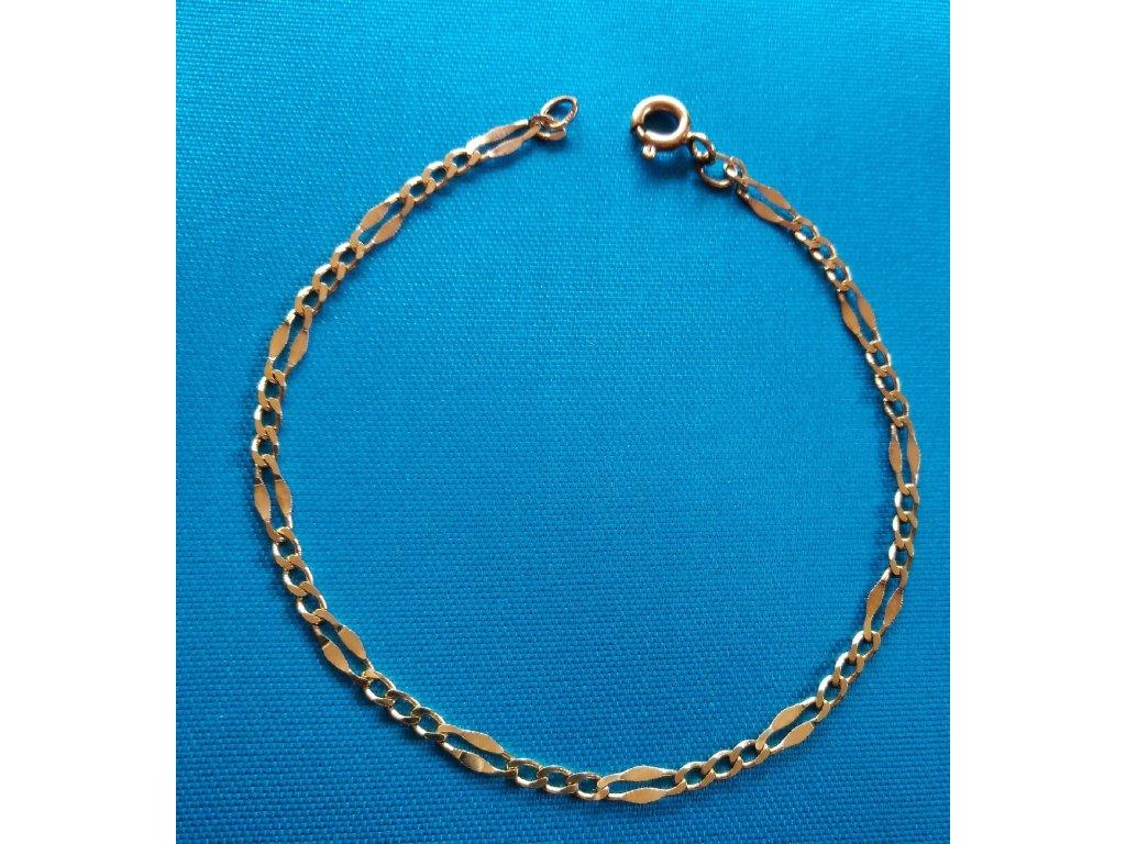 Zlatý náramek AU 585/1000 1,82 g