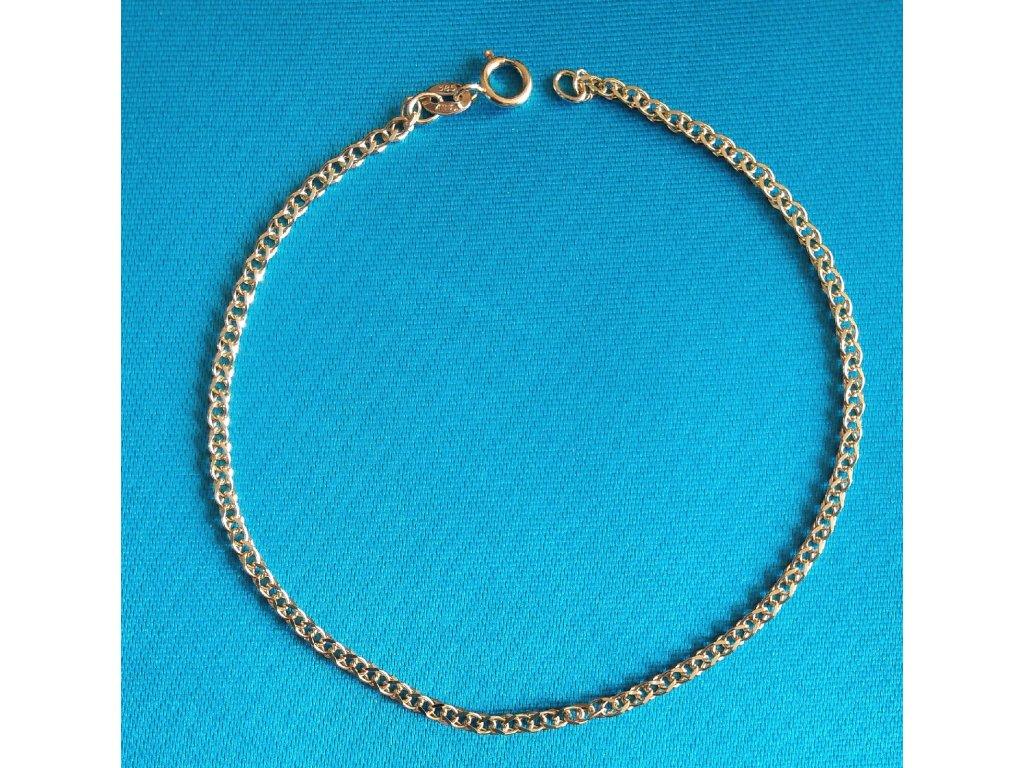 Zlatý náramek AU 585/1000 1,30 g