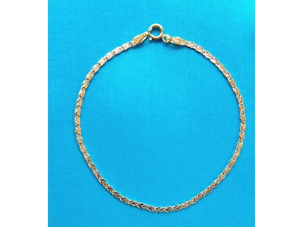 Zlatý náramek AU 585/1000 2,20 g