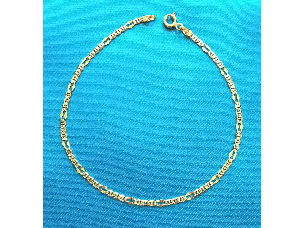Zlatý náramek AU 585/1000 2,45 g