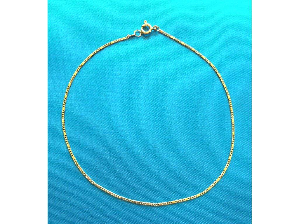 Zlatý náramek AU 585/1000 1,38 g