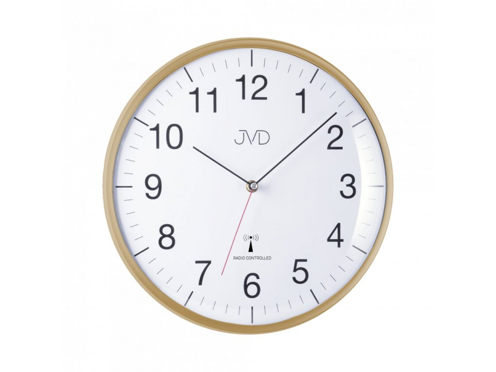 Rádiem řízene hodiny - zlaté RH16.3