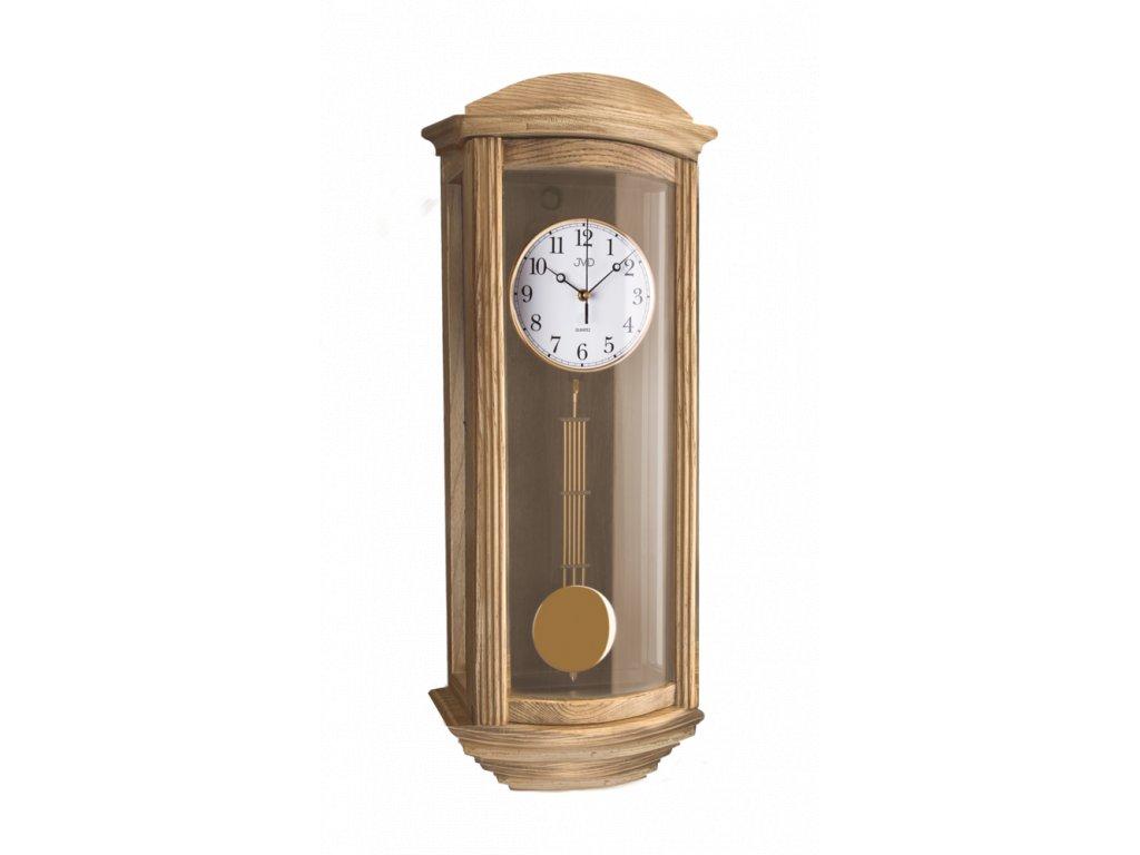 Nástěnné kyvadlové hodiny JVD broušený dub N2220/78