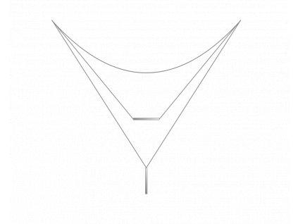 Trojitý stříbrný náhrdelník MINET
