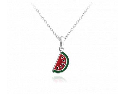 Letní stříbrný náhrdelník MINET MELOUN