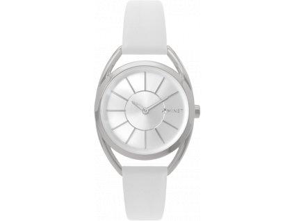Bílé dámské hodinky MINET ICON SILVER WHITE