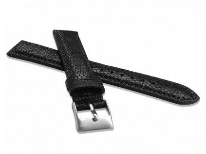 Černý řemínek MINET LIZARD se vzorem ještěrky z luxusní kůže Top Grain - 16