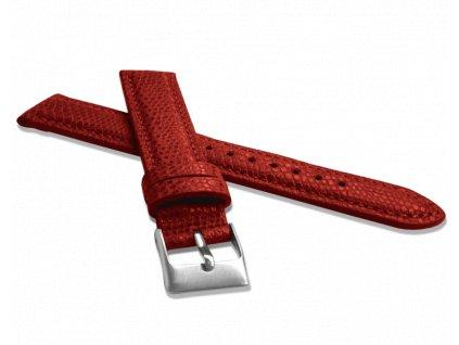Červený řemínek MINET LIZARD se vzorem ještěrky z luxusní kůže Top Grain - 16