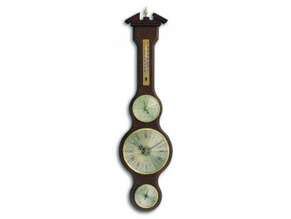 TFA 45.3004.03 - Meteostanice kaplička  s teploměrem, vlhkoměrem, barometrem a hodinami