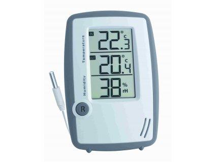 Digitální teploměr s vlhkoměrem a kabelový čidlem teploty TFA 30.5024