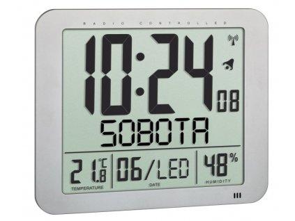 TFA 60.4516.54 - Nástěnné hodiny řízené rádiovým signálem s českým dnem v týdnu