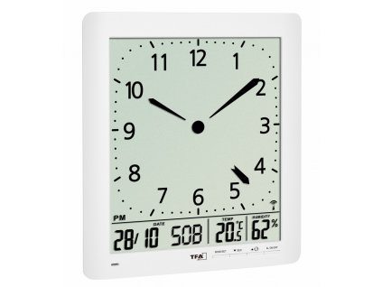 Nástěnné DCF hodiny TFA 60.4515.02 s teploměrem a vlhkoměrem