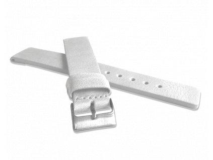 Bílý hladký řemínek LAVVU PLAIN z luxusní kůže Top Grain - 16