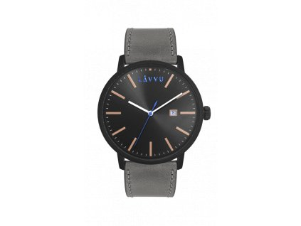 Šedé pánské hodinky LAVVU COPENHAGEN CHARCOAL GREY