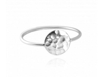 Tepaný stříbrný prsten MINET vel. 59