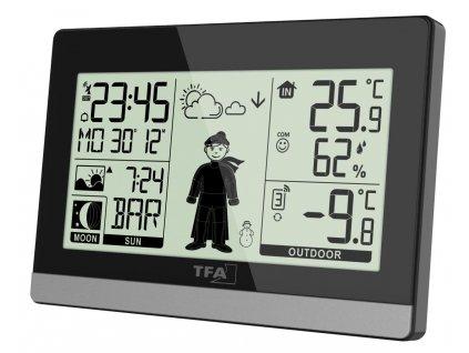 Domácí meteostanice s předpovědí počasí a postavičkou TFA 35.1159.01 WEATHER BOY - černá