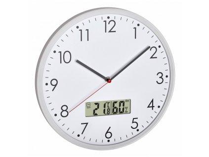 TFA 60.3048.02 - Analogové nástěnné hodiny s digitálním teploměrem a vlhkoměrem