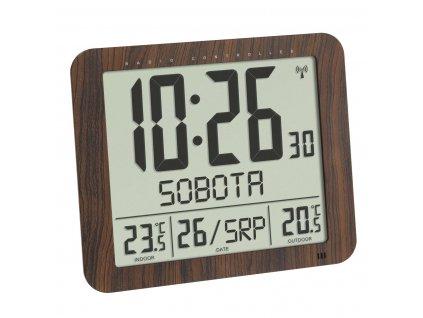 TFA 60.4518.08 - Nástěnné hodiny DCF s venkovním čidlem teploty a s českým dnem v týdnu