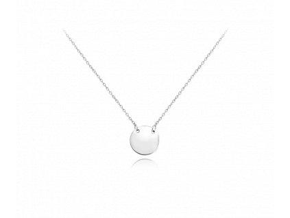 Stříbrný náhrdelník MINET ENGRAVE - kroužek pro gravírování