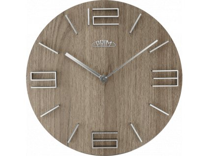 Nástěnné hodiny PRIM Timber Breezy