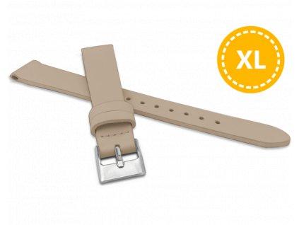 XL Prodloužený béžový řemínek MINET z luxusní kůže Top Grain - 14 - XL