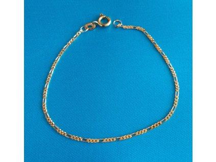 Zlatý náramek AU 585/1000 1,05 g