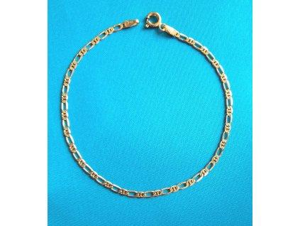 Zlatý náramek AU 585/1000 2,05 g
