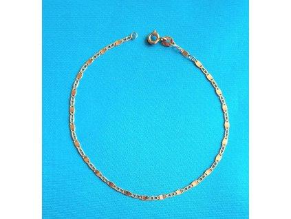 Zlatý náramek AU 585/1000 1,15 g
