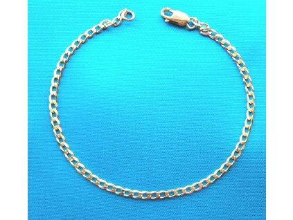 Zlatý náramek AU 585/1000 4,51 g