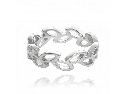 Stříbrný prsten MINET LÍSTKY na nohu vel. 40