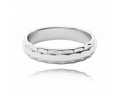 Broušený snubní stříbrný prsten MINET vel. 49