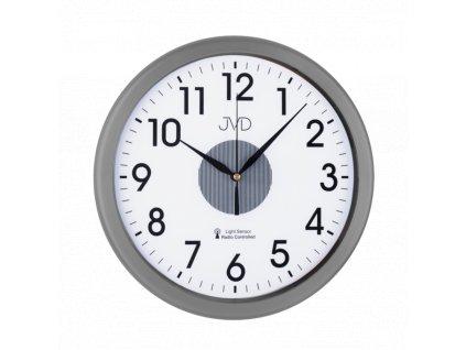 Rádiem řízené hodiny JVD šedé RH692.4