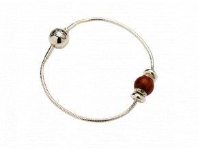 WAIDZEIT Silberarmband mit rotem Sandelholz Starterset 1