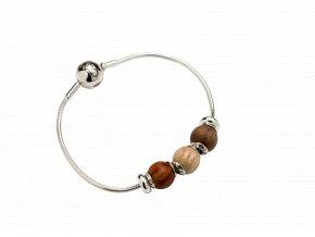 WAIDZEIT Holz & Silberarmband Waidzeit Armbandset 1
