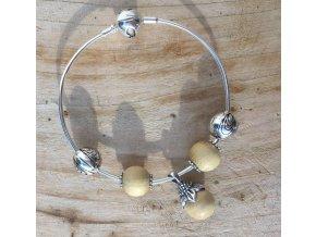 WAIDZEIT Silberarmband mit Holz & Silberperlen Set 5 Esche 1
