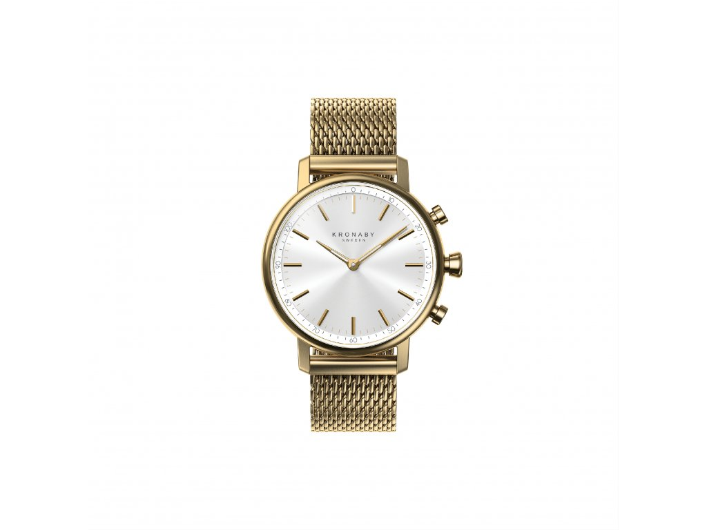 Carat Front Sterling Gold Milanese