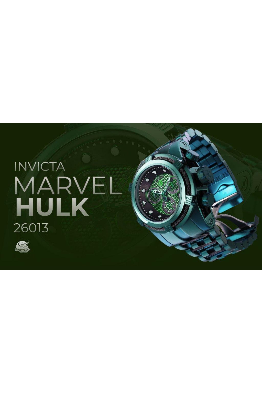 8dbab3edf Pánské hodinky Invicta MARVEL Hulk 26013 + Kufr Invicta v hodnotě 1000 Kč  ZDARMA - Hodinky INVICTA