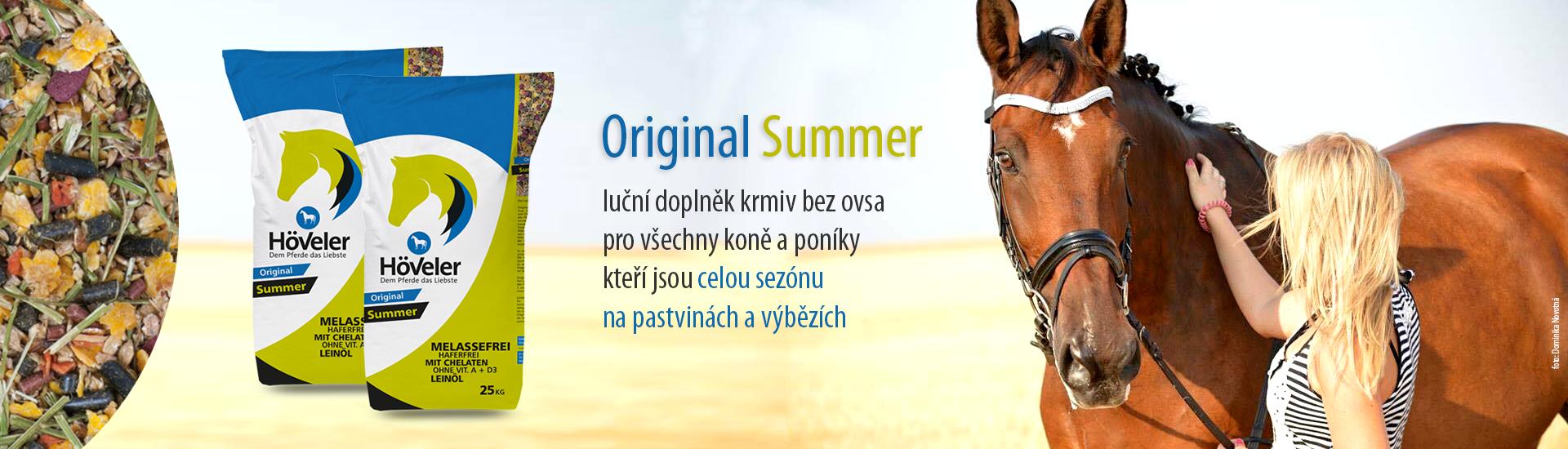 Summer - luční doplněk krmiv bez ovsa  pro všechny koně a poníky kteří jsou celou sezónu  na pastvinách a výbězích