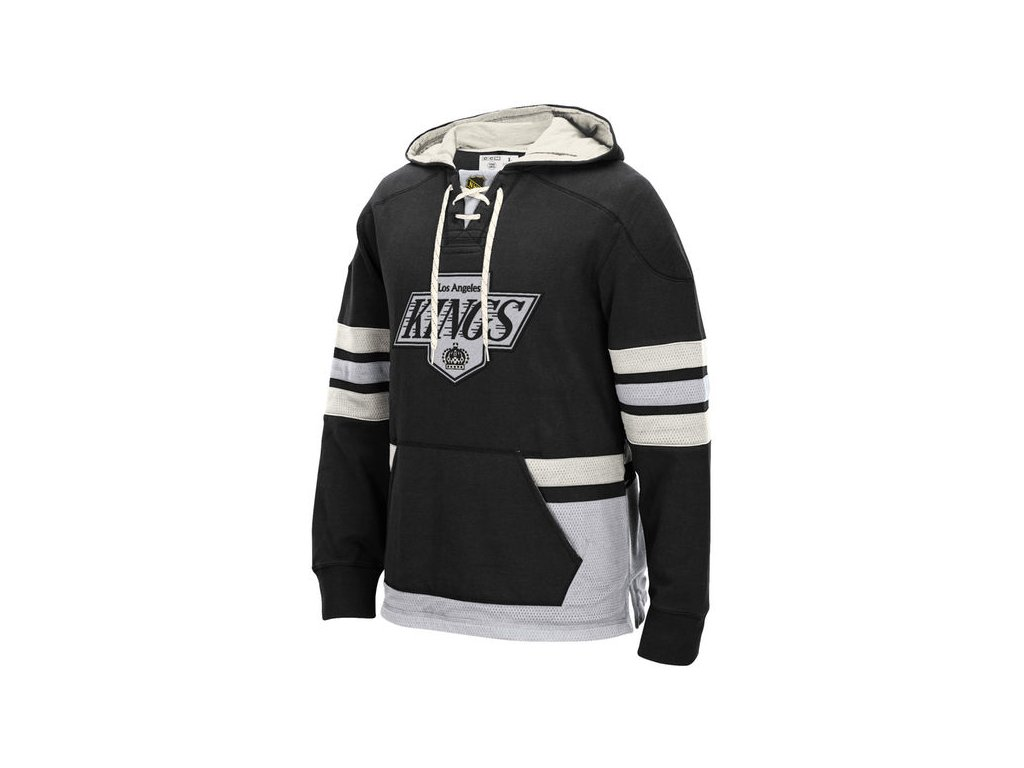 158811 panska mikina s kapuci ccm black pullover nhl los angeles kings la