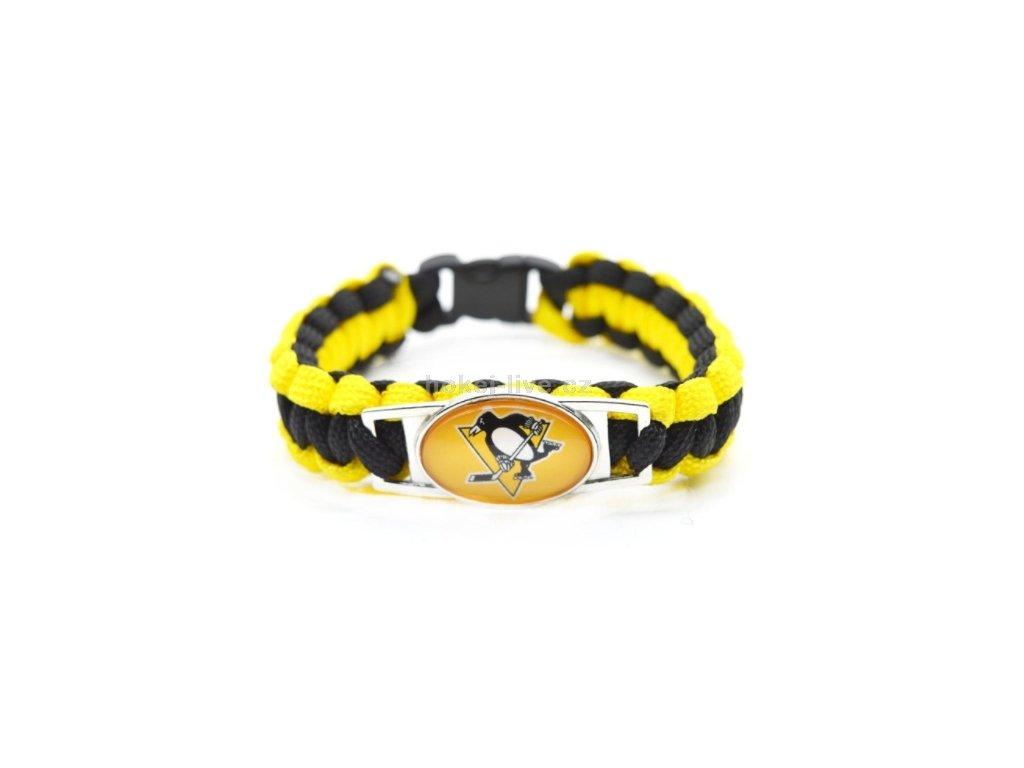 NHL náramek s vaším oblíbeným klubem PIttsburgh Penguins