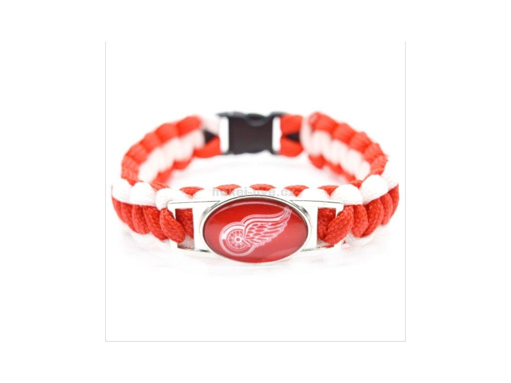 NHL náramek s vaším oblíbeným klubem Detroit Red Wings