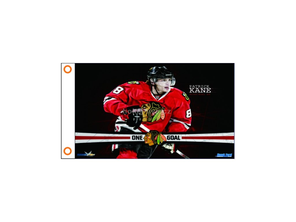 NHL vlajka prapor Chicago Blackhawks Patric Kane