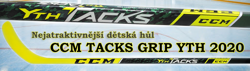 KOMPOZITOVÁ HŮL CCM TACKS GRIP YOUTH FLEX 20
