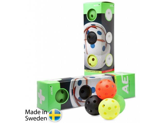 salming aero plus ball 4 pack colour